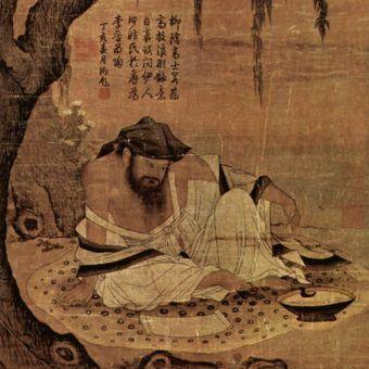 """Ilustracja""""Uczony na łące"""" z czasów dynastii Song (XI wiek) (źródło: domena publiczna"""")."""