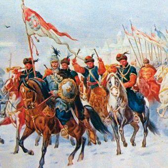 """Sarmaci byli niesamowici i w walce, i w życiu codziennym. Fragment obrazu Juliusza Kossaka """"Odsiecz Smoleńska"""" (źródło: domena publiczna)."""