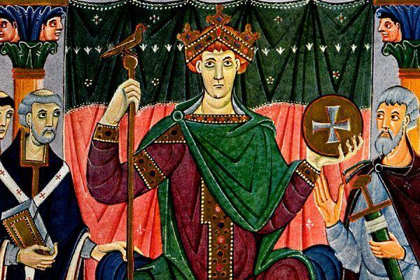 Dlaczego Otto III chodził boso? (źródło: domena publiczna).