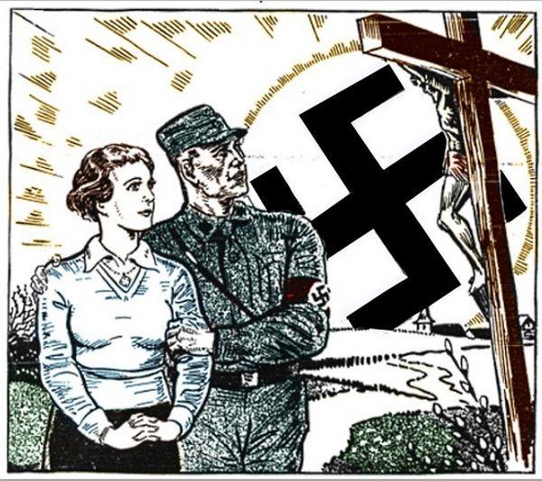 Także wielu zatwardziałych nazistów mieniło się chrześcijanami. Ciekawe, jak radzili sobie z faktem, że świętują ukrzyżowanie i zmartwychwstanie Żyda? (źródło: domena publiczna)