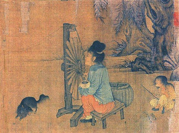 Żona Shena Kuo podobno była niezbyt miłą niewiastą... Fragment obrazu chińskiego artysty Wanga Juzhenga (źródło: domena publiczna).