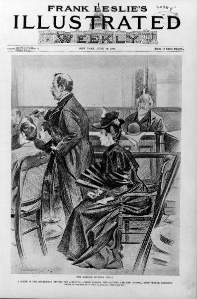 Procesem Lizzy żyła cała Ameryka. Czy normalna na pozór kobieta mogła dokonać tak strasznej zbrodni? Ława przysięgłych też nie mogła w to uwierzyć... (źródło: domena publiczna).