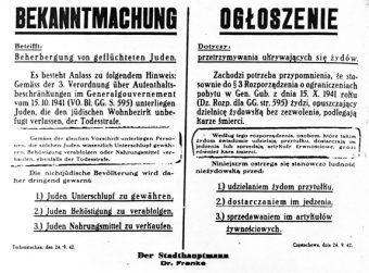 To właśnie to oświadczenie Hansa Franka wydane w październiku 1941 roku rozpoczęło horror milionów ludzi (źródło: domena publiczna).