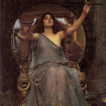Starożytny symbol niegrzecznej księżniczki - Kirke oferująca Odyseuszowi puchar na obrazie Johna Williama Waterhouse'a z 1891 roku (źródło: domena publiczna).
