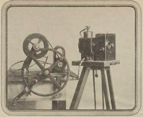 """Jednym z licznych wynalazków Piotra Lebiedzińskiego był """"Cykloskop"""" (źródło: domena publiczna)."""