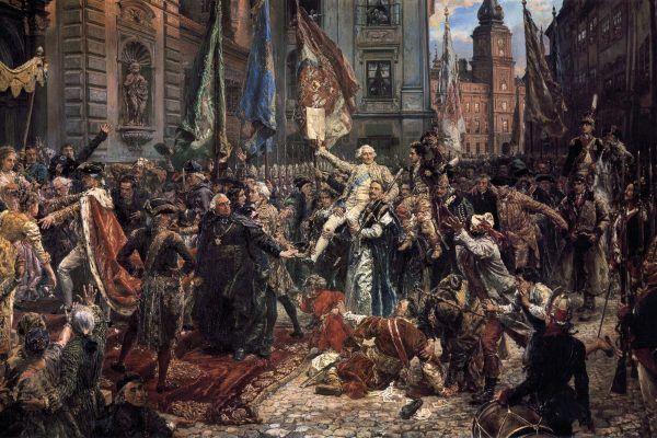 """Aż dziw bierze, że malując obraz """"Konstytucja 3 Maja"""" Jan Matejko nie wyeksponował... masońskich fartuszków (źródło: domena publiczna)."""