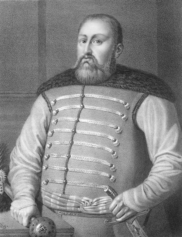 """Hetman wielki koronny Mikołaj Potocki """"Niedźwiedzia Łapa"""" herbu Pilawa. Czy rzeczywiście jedyne o czym myślał, to popijawy i """"męskie rozmowy"""" wieczorową porą? (źródło: domena publiczna)."""