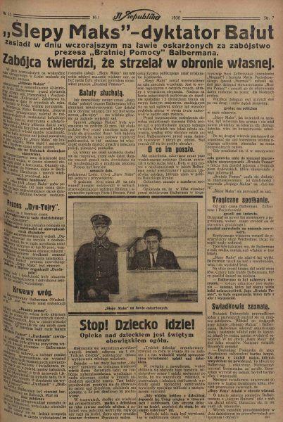 Prasa oszalała na punkcie polskiego Ala Capone. W relacjach z procesu przedstawiano go jako króla łódzkiego półświatka