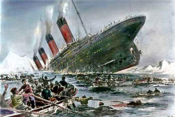 """Tragedia Titanica do dziś budzi emocje. Obraz Willy'ego Stöwera """"Zatonięcie Titanica"""" (źródło: domena publiczna)."""