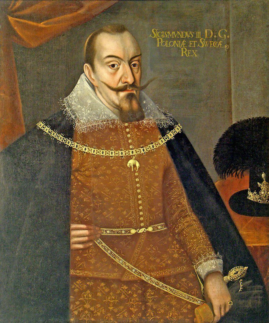 Zygmunt III Waza, w sporze z angielską królową, nie zawahał się sięgać po otwarte groźby. Jego poseł omal nie przypłacił tego życiem (źródło: domena publiczna).