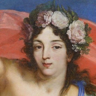 Czy to oczy miłosne, czy przebiegłe? Maria Kazimiera jako Jutrzenka na obrazie Jana Reisnera (źródło: domena publiczna).