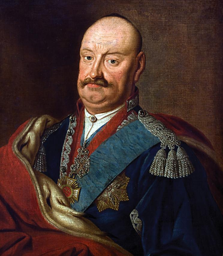 """Rodzonym bratem Teofili był człowiek równie jak ona ekscentryczny - Karol Stanisław zwany """"Panie Kochanku"""". Ilustracja Konstantego Aleksandrowicza (źródło: domena publiczna)."""
