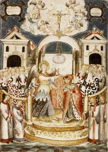 Bycie chrześcijańskim władcą w średniowiecznej Europie otwierało wiele drzwi. Mieszko I należał do tego grona, choć niektórym bardzo zależało, by zasiać wątpliwość co do tego faktu (źródło: domena publiczna).