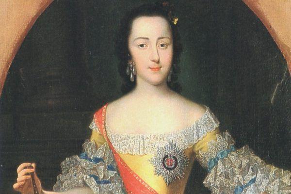 """Już jako Katarzyna, ale jeszcze nie """"Wielka"""". Przyszła caryca w wieku 16 lat (źródło: domena publiczna)."""