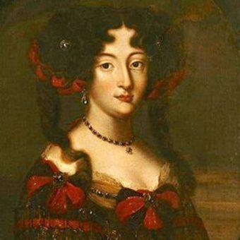 Maria Kazimiera d'Arquien Sobieska była wytrawną graczką gambitu w hetmańskim wydaniu. Obraz autorstwa Jacoba Ferdinanda Voeta (źródło: domena publiczna).