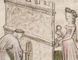 """Ludzie średniowiecza wiedzieli co nieco o murach... (ilustracja z kodeksu """"Le roman de la rose"""" z ok. 1400 roku)."""