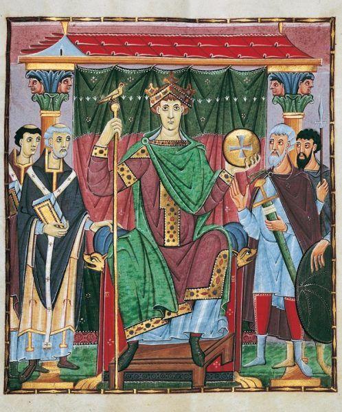 Otton III w pełni swojego nastoletniego majestatu...