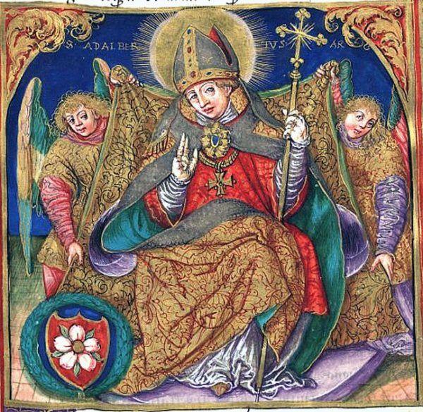 Czy pierwszego chrześcijańskiego władcę Polski - który nie był Mieszkiem I - ochrzcił św. Wojciech? Takie rewelacje można znaleźć we francuskiej kronice autorstwa Adémara z Chabannes (źródło: domena publiczna).