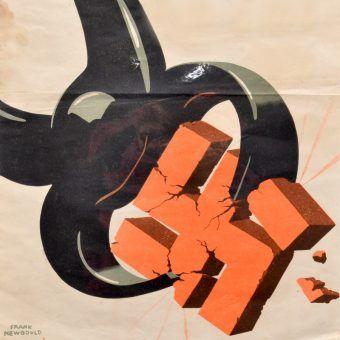 Ten fragment amerykańskiego plakatu propagandowego to dobra metafora ostatnich dni wojny.
