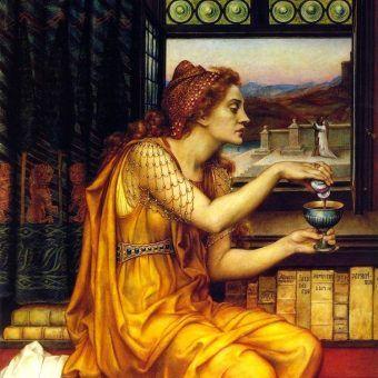 """Żywot trucicielki nie był łatwy... Obraz """"The Love Potion"""" z 1903 roku autorstwa Evelyn De Morgan (źródło: domena publiczna)."""