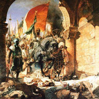 Zdobycie Konstantynopola przez sułtana Mehmeda II. Obraz Jeana-Josepha Benjamina-Constanta z 1876 roku (źródło: domena publiczna).