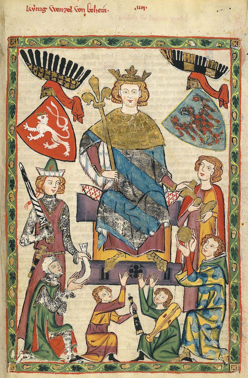 Wacław II. Czeski król, któremu wiernie służył Jan Muskata (źródło: domena publiczna).