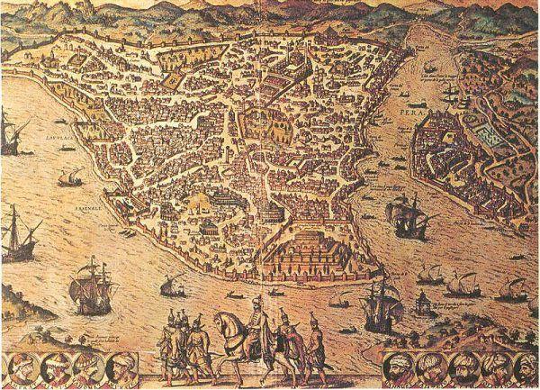 Mapa XVIII-wiecznego Konstantynopola. To właśnie tutaj Casanova poszerzał swoje horyzonty (źródło: domena publiczna).