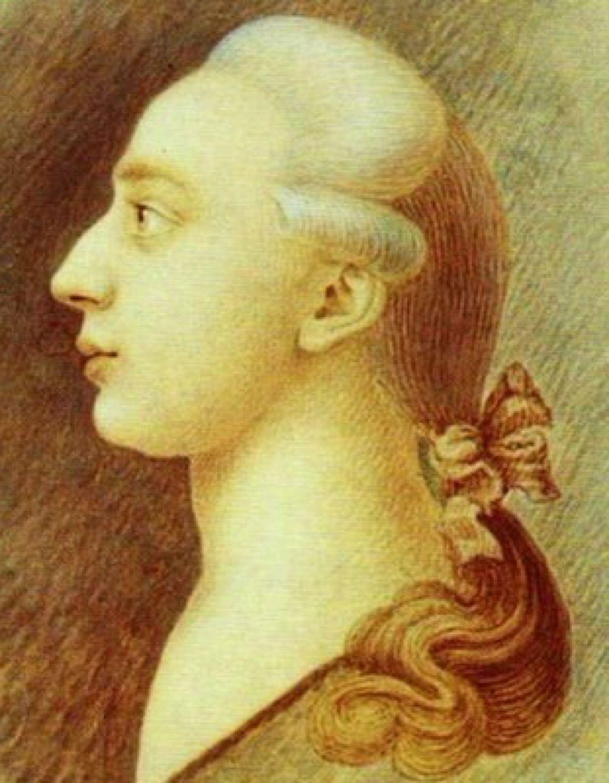 Specyficzna uroda Casanovy nie przeszkadzała mu w zdobywaniu kobiecych serc. Na ilustracji bohater artykułu sportretowany przez swojego brata Francesco (źródło: domena publiczna).