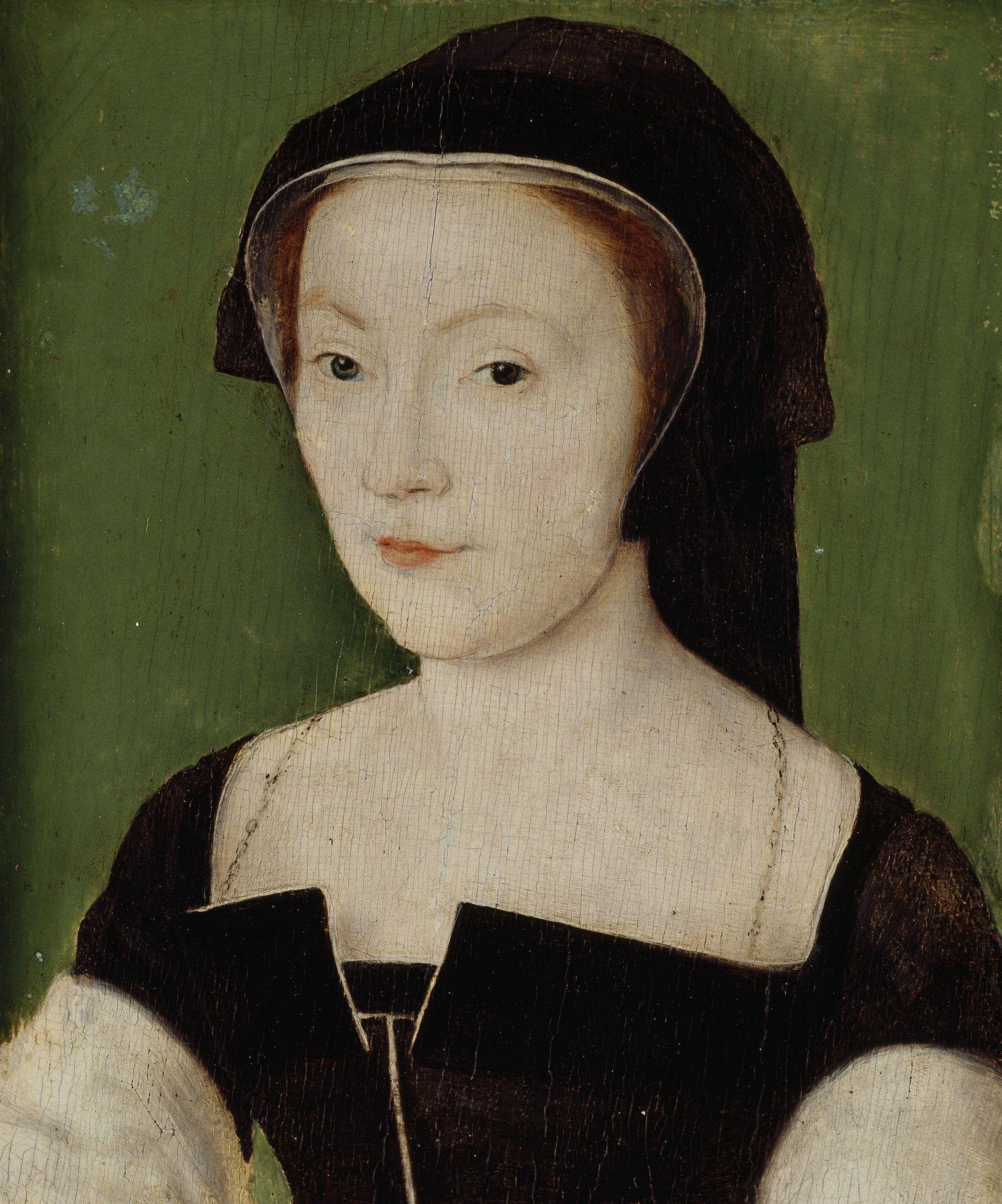 Piękna Maria de Guise zdążyła już wpaść w oko siostrzeńcowi Henryka. Zresztą los Anny Boleyn jakoś nie skłaniał do wyjścia za króla Anglii... Portret Marii pędzla Corneille'a de Lyon, wykonany ok. 1537 roku (źródło: domena publiczna).