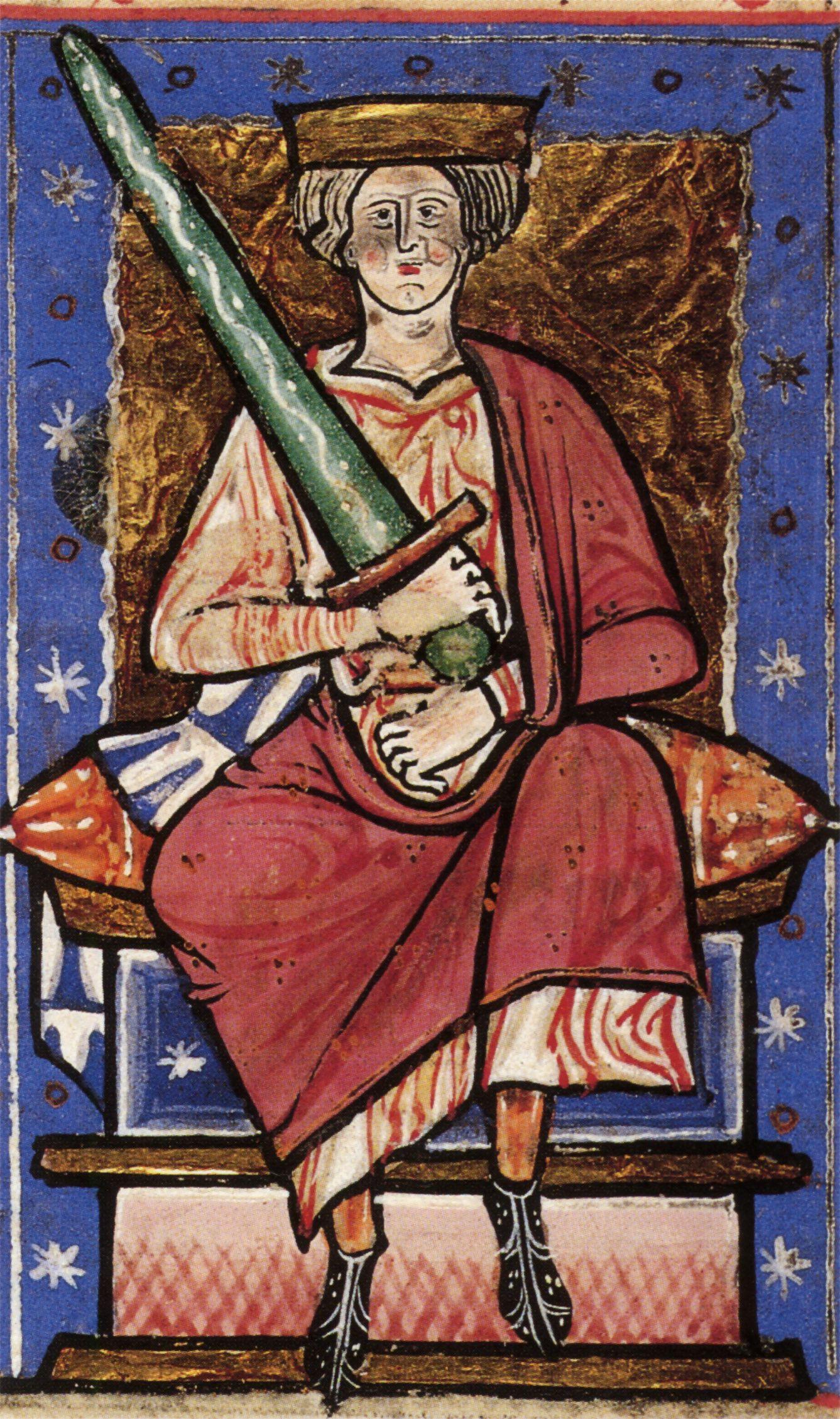 Ethelred II Bezradny. Jego nieudolne rządy umożliwiły Duńczykom zajęcie Anglii (źródło: domena publiczna).