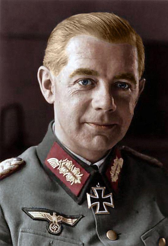 Feldmarszałek Walther Wenck (fot. Schneider/Kunath, Bundesarchiv, Bild 101I-237-1051-15A, CC-BY-SA; koloryzacja: Le DanGereuX).