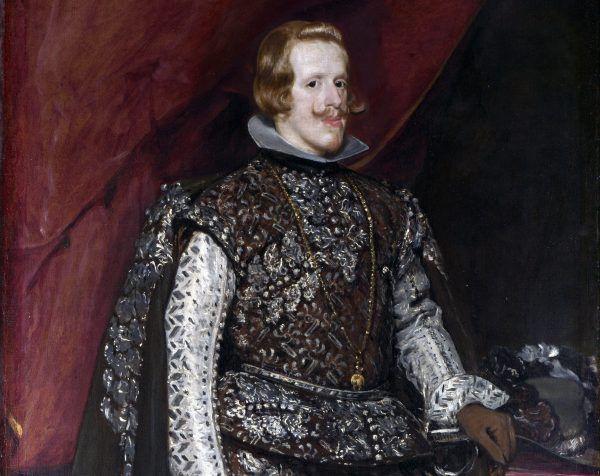 Filip IV, król Hiszpanii, odkrył, że w biedzie można liczyć na rodzinę. Na przykład na to, że szwagier odda mu rękę... własnej córki. Obraz Diego Velázqueza z ok. 1631 roku (źródło: domena publiczna).