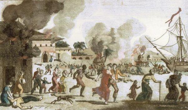 Powstania niewolników nie zdarzały się często, ale zawsze były wyjątkowo krwawe (źródło: domena publiczna).