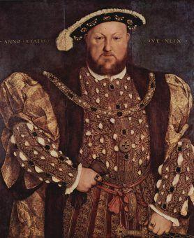 Słynny Henryk VIII Tudor. Zasiadał na tronie angielskim przez prawie 40 lat (źródło: domena publiczna).