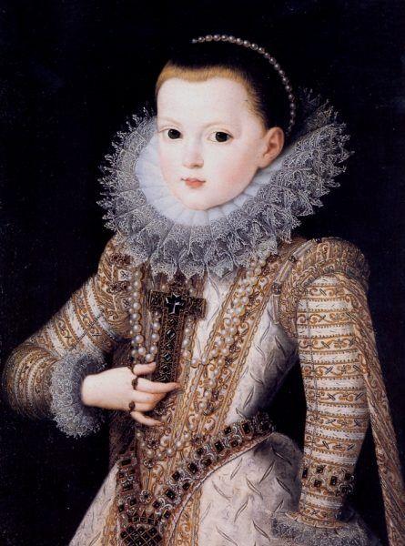 """Sześcioletnia Anna Austriacka na obrazie Juana Pantoji de la Cruza. To dla niej mały Ludwik Burbon szykował swój """"pakiecik"""" (źródło: domena publiczna)."""
