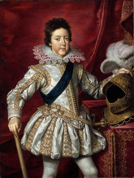 """Ciekawe, czy szesnastoletni Ludwik XIII pamiętał swoje dziecięce """"zabawy""""? Obraz pędzla Fransa Pourbusa Młodszego (źródło: domena publiczna)."""