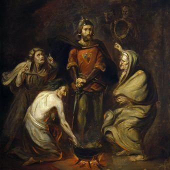 """Którzy władcy dorównywali wykreowanemu przez Szekspira obrazowi Makbeta i jego żony? Obraz Thomasa Barkera z Bath z 1830 roku """"Makbet i wiedźmy"""" (źródło: domena publiczna)."""