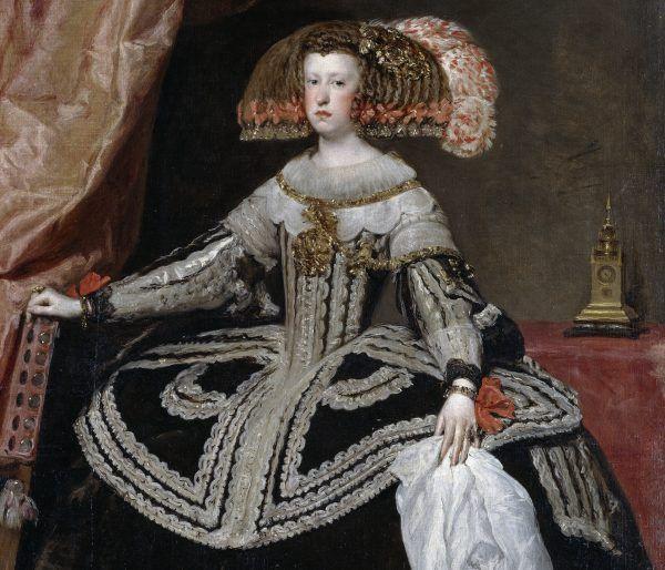 Mina Marianny mówi wszystko. 18-letnia królowa Hiszpanii musiała dzielić łoże z prawie trzykrotnie starszym od niej wujkiem, który ją w dodatku lekceważył. Obraz Diego Velázqueza z 1652 roku (źródło: domena publiczna).