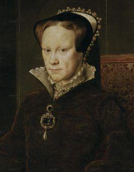 """Córka Henryka VIII - Maria I Tudor. Przydomek """"Krwawa Mary"""" mówi chyba wszystko (źródło: domena publiczna)."""
