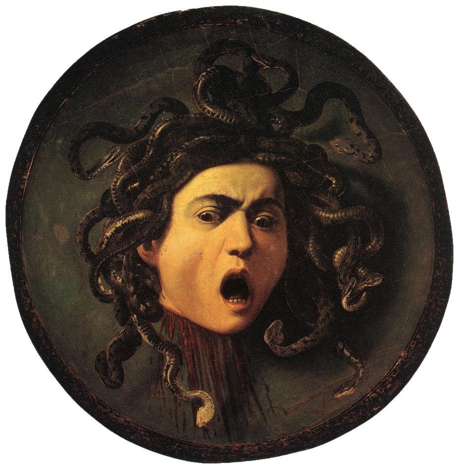 Według jednego z bohaterów powieści Blesseboisa zombie miały wyglądać jak meduza - z wężami zamiast włosów (obraz Caravaggia, źródło: domena publiczna).