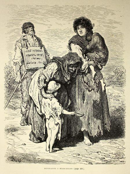 Czy tak mogła wyglądać XIX-wieczna nauczycielska rodzina? (autor: Gustave Doré, lic.: CC BY 2.0).