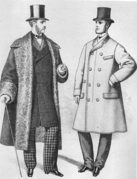 Wygląd brytyjskiego gentlemana był daleko poza zasięgiem portfela nauczyciela X. Nawet kupno najtańszych ubrań stanowiło wyzwanie finansowe... (źródło: domena publiczna).