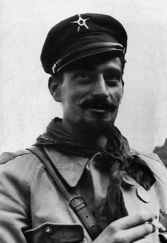Pier Luigi Bellini delle Stelle, dowódca oddziału partyzantów, który schwytał Mussoliniego (fot. domena publiczna).