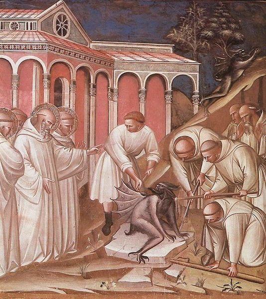 Walka z demonami i strzygami leży w zainteresowaniach Kościoła od wieków. Czasem ma to fatalne skutki (źródło: domena publiczna).