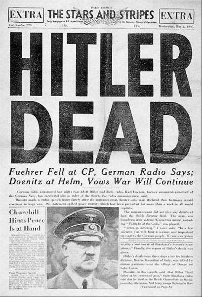 Śmierć Hitlera trafiła zapewne na pierwsze strony wszystkich zachodnich gazet. Ale w ostatnich dniach wojny nie brakowało innych ważnych wydarzeń.