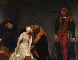 Egzekucja Lady Jane Grey. Obraz Paula Delarouche (źródło: domena publiczna).