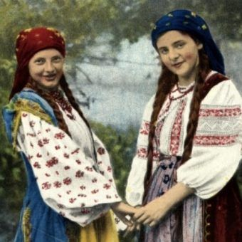 Ukraińskie wieśniaczki (zdj. domena publ.).