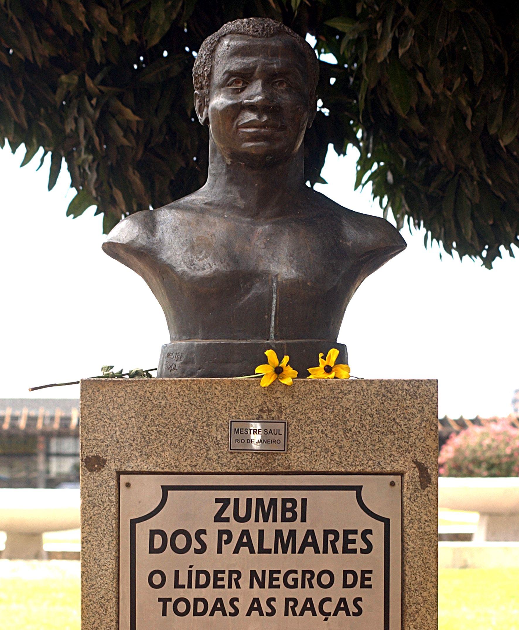 Popiersie brazylijskiego bohatera walk niewolników z kolonizatorami, Zumbiego, w Brasilii (fot. Elza Fiúza/ABr, lic. CC BY 3.0 br).