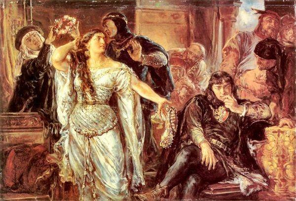 Oddawanie narzeczonej pod opiekę Gryfiny, wdowy po Leszku Czarnym, nie było najszczęśliwszym pomysłem, zważywszy na to, co mogła wbić do głowy młodziutkiej królewnie. Gryfina nie stanowiła wzoru uległej żony, a z mężem szczerze się nie znosili, nie omieszkując publicznie tego okazywać (źródło: domena publiczna).