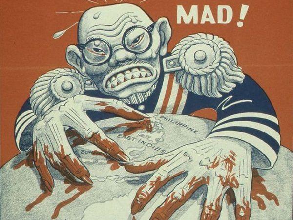 Taką zachłanną japońską bestią straszono na amerykańskich plakatach propagandowych...
